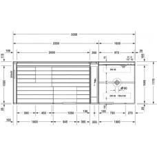 Inipi Ama сауна, пристенная и угловая версия Duravit Inipi 7507